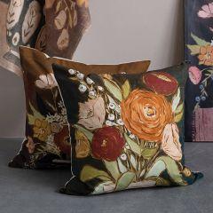 Modern Floral Print Accent Pillow Set of 2