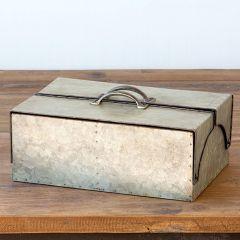 Galvanized Metal Country Keepsake Box