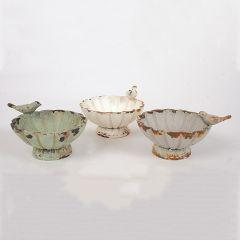 Decorative Pewter Bowls Set of 3