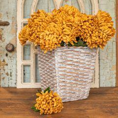 Faux Fall Chrysanthemum Stem Set of 6