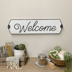 Simple Script Welcome Sign