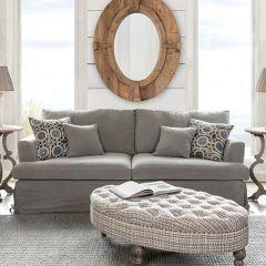 Linen Slip Covered Sofa