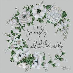Live Simply Love Abundantly Wall Art