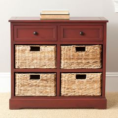 Country Cabinet With Baskets