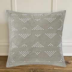 Stately Embroidered Throw Pillow