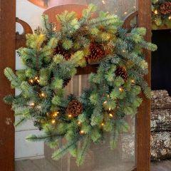 LED Lit Spruce Wreath