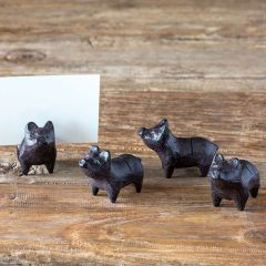 Farmhouse Piglet Place Card Holder Boxed Set of 4