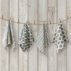 Casual Cotton Kitchen Towel Collection Set of 4