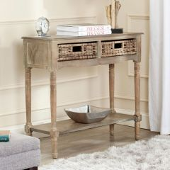 2 Drawer Rustic Pine Console