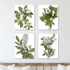 Pale Botanical Canvas Wall Art