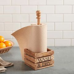 Farmhouse Crate Paper Towel Holder