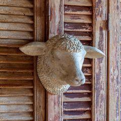 Decorative Weathered Sheep Head Wall Mount
