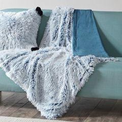 Shaggy Faux Fur Cozy Throw Blanket Teal