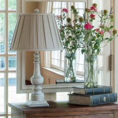 Painted Turned Spindle Lamp