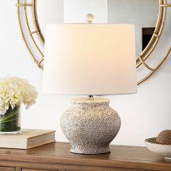 Textured Contemporary Table Lamp