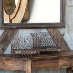 French Wire Baskets Set of 2