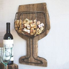 Rustic Farmhouse Wall Wine Cork Holder
