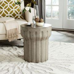 Round Contemporary Concrete Table