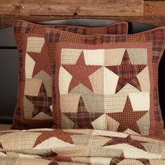Country Star Quilted Euro Sham Set of 2
