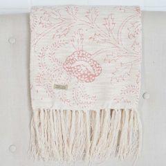 Pretty Print Floral Throw Blanket