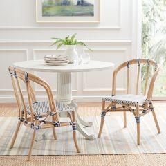 Coastal Chic Rattan Dining Chair Set of 2