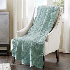 Aqua Hued Oversized Throw Blanket