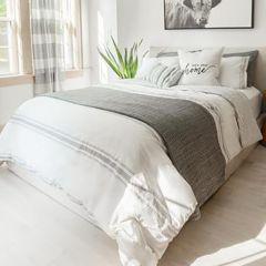 Striped Reversible Cotton Quilt Set
