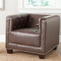 Nailhead Trim Club Chair
