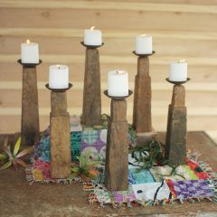 Repurposed Furniture Leg Candle Holder Collection Set of 6