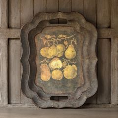 Antiqued Decorative Pear Tray