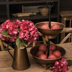 2 Tier Copper Bowl Display Stand