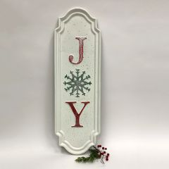 JOY Snowflake Wall Plaque Sign