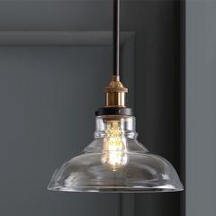 Glass Dome Contemporary Pendant Light