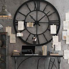 Huge Round Metal Wall Clock