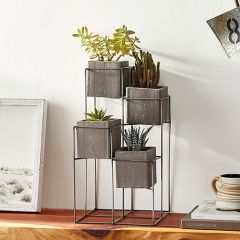 4 Planter Tower Display Stand