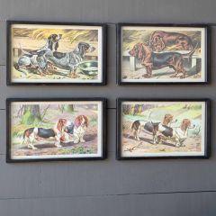 Hound Framed Prints Set of 4