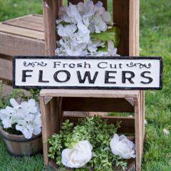 Metal Flowers Sign