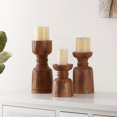 Classic Silhouette Candle Holder Set of 3