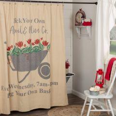Farmhouse Wheelbarrow Shower Curtain