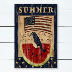 Flag With Crow Summer Wall Art