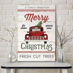 Merry Christmas Farm Truck Sign