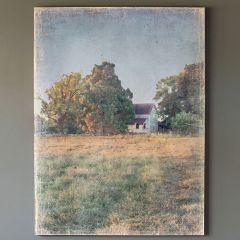 Watercolor Farmhouse Homestead Canvas Print