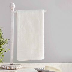 Beaded Wood Towel Holder