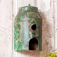Rustic Milk Can Birdhouse