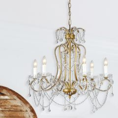 6 Light Draping Crystal Chandelier