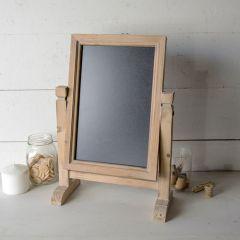 Rustic Wood Framed Tabletop Chalkboard