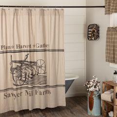 Farm Graphic Shower Curtain