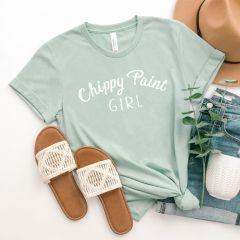 Chippy Paint Girl Dusty Blue Tee