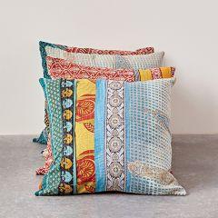Kantha Quilt Throw Pillow
