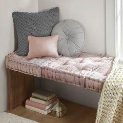 Classic Cottage Square Floor Cushion Blush